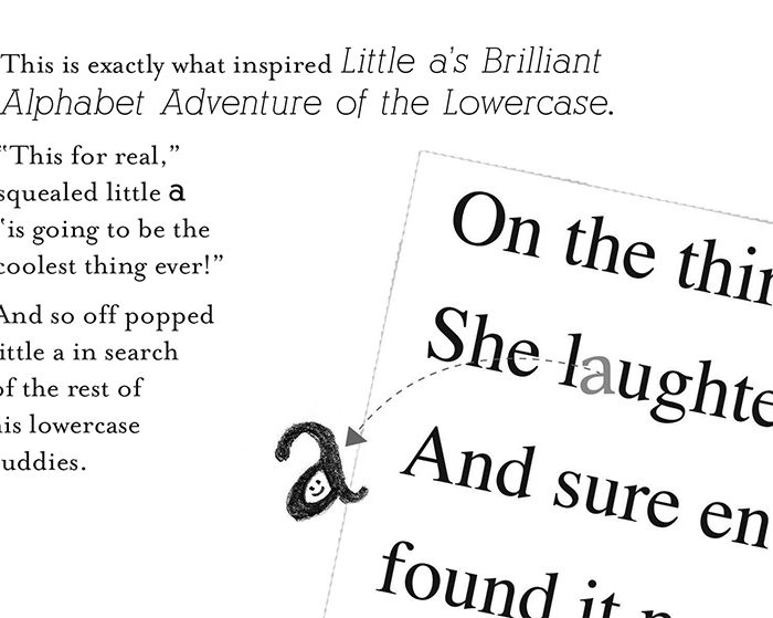 Little a's Brilliant Adventure of the Lowercase